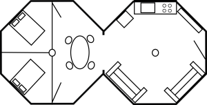Sample Floor Plan Combining Two Cabin Kits